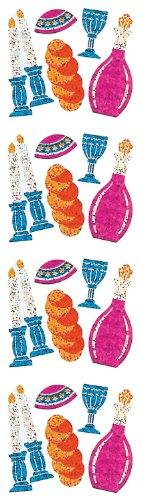 Jillson Roberts Prismatic Stickers, Judaic, Mini Sabbath, 12-Sheet Count (S7589)