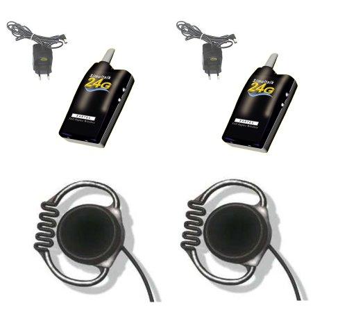 Simultalk 24G Wireless System - Streamline Restaurant Communication - Two Loop Headsets