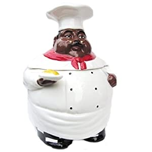 Amazon Com Black Chef Large Cookie Jar Black Kitchen