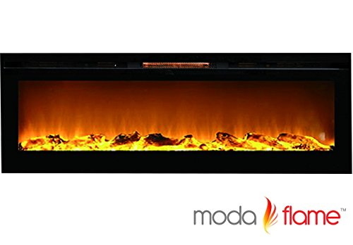 72 Inch Recessed Cynergy XXL Log Built-In Wall Mounted Electric Fireplace (Automatic Ethanol Fireplace compare prices)