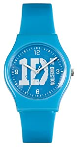 One Direction Girl's Quartz Watch with Blue Dial Analogue Display and Blue Plastic or PU Strap ON004BLODA
