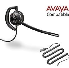 buy Avaya Compatible Plantronics Voip Noise Canceling Hw530 Headset Bundle | Avaya 1600 And 9600 Ip Phones: 1608, 1616, 9601, 9608, 9610, 9611, 9611G, 9620, 9620C, 9620L, 9621, 9630, 9640, 9640G, 9641, 9650, 9650C, 9670