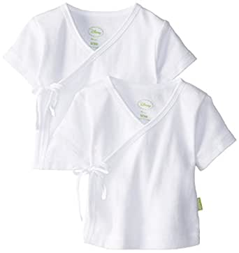 Disney Cuddly Wrap Tee -  Pointelle 2 Pack, White, 0-3 Months