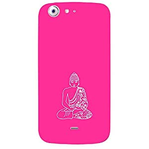 Skin4gadgets Lord Gautum Buddha-Line Sktech on English Pastel Color-Bubble Gum Phone Skin for CANVAS 4 (A210)