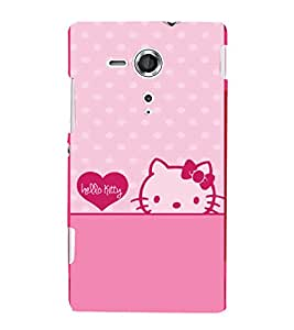 printtech Kitty Cat Back Case Cover for One Plus X