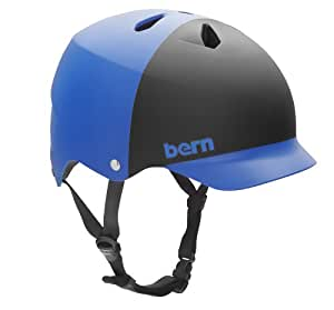 BERN Watts EPS 2-Tone Summer Matte Helmet (Cobalt Blue/Black, Small)