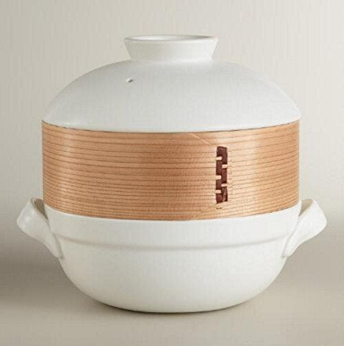 Ceramic Clay Pot with Bamboo Steamer - World Market (Ceramic Food Steamer compare prices)