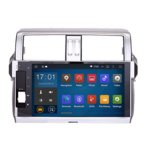 Uunit 10.2 inch Pure Android 5.1.1 Quad Core Car GPS radio player for Toyota New Prado 150 2014 2015 with 1024*600 touch screen wifi bluetooth mirror link free 8G map (Mirror For Toyota Prado compare prices)