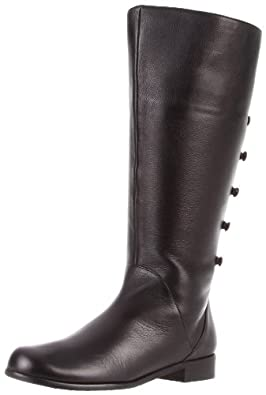 Ros Hommerson Women's Trendy-W Knee-High Boot,Black Leather,7 M US