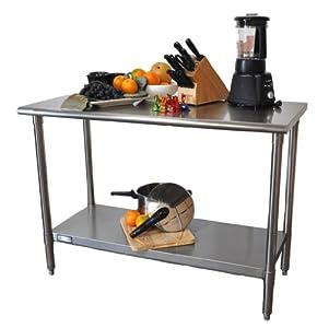 """Amazon.com : TRINITY EcoStorageTM 48"""" NSF Stainless Steel Prep"""