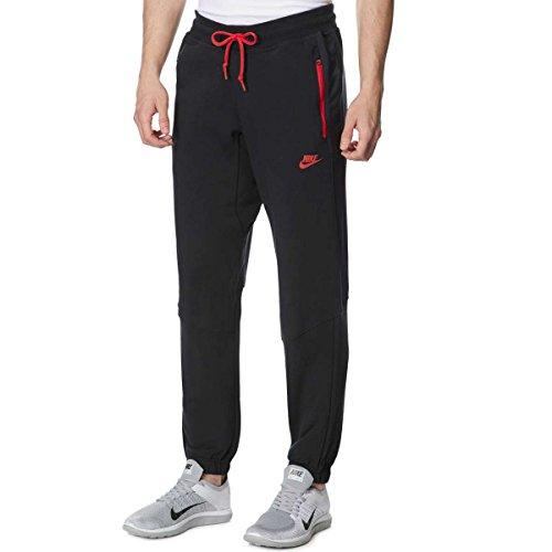 nike-hybrid-fleece-tracksuit-bottom-trousers-large-black-red