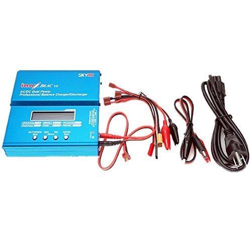 skyrc-imax-b6ac-v2-dual-power-li-ion-rc-equilibrage-chargeur-de-batterie-bleu