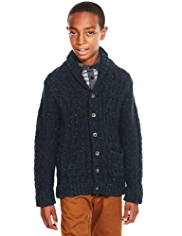Autograph Shawl Collar Cardigan with Wool