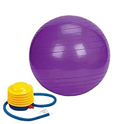 Gym Ball With Air Pump For Fitness & Exercise 75 Cm