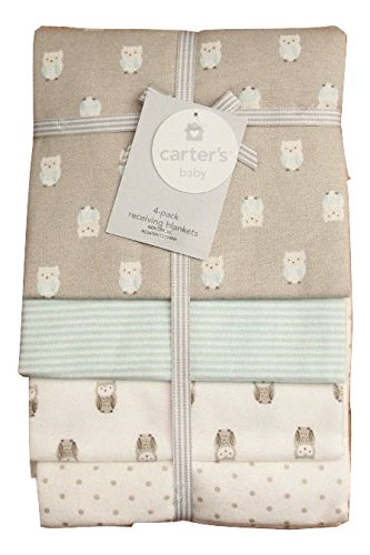 Carter's Receiving Blanket, Hoot Owl, 4 Count