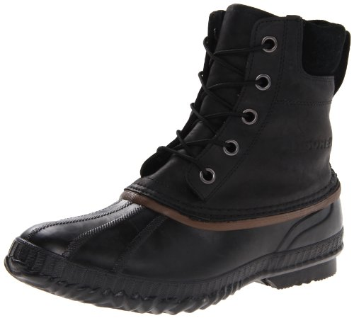 Sorel Mens CHEYANNE LACE FULL GRAIN Pull-On Boots#510 Black Schwarz (Black, Dark brown 010) Size: 40