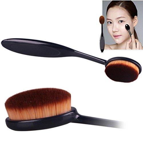 Susenstone Pro Cosmetic Makeup Face Powder Blusher Toothbrush Curve Foundation Brush