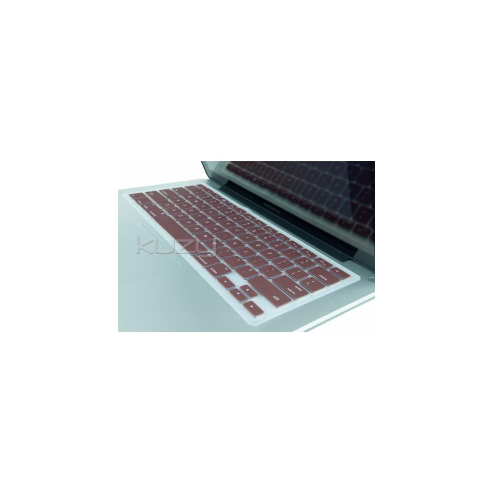 Kuzy   Chocolate Brown Keyboard Silicone Cover Skin for MacBook / MacBook Pro 13 15 17 Aluminum Unibody (fits MacBook with or w/out Retina Display)