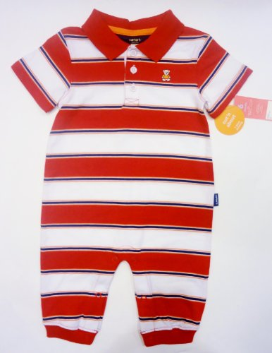 Carter's Polo Red and White Striped Out N' About