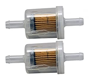 Briggs & Stratton 2 Pack 691035 Fuel Filter 40 Micron For Selected Engines with Fuel Pump by Briggs and Stratton