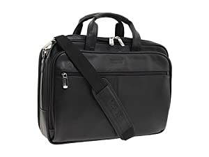 Kenneth Cole Reaction I Rest My Case - 4 1/2 Double Gusset Top Zip Portfolio Computer Case Computer Bags - Black