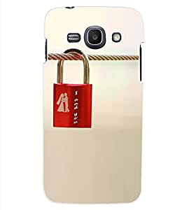 ColourCraft Love Lock Design Back Case Cover for SAMSUNG GALAXY ACE 3 3G S7270