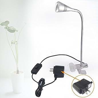 led desk lamp clip on reading adjustable table light neck amazon. Black Bedroom Furniture Sets. Home Design Ideas