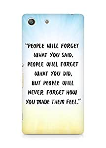 AMEZ people will forget what you said did Back Cover For Sony Xperia M5