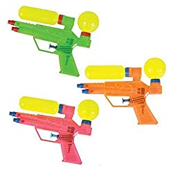 Double Barrel Water Gun / Squirter - 12 Pack (Colors Vary)