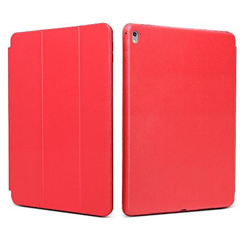 "iPad Pro 9.7 ""Case, JGOO [Full Body Protection] Ultra Slim Folio Abdeckung mit Standplatz und Magnetic Smart Cover Auto-Spur-Schlaf On / Off-Funktion, Klassische Eleganz Stil f¨¹r iPad Pro 9.7 Zoll (2016 Release), Rot"