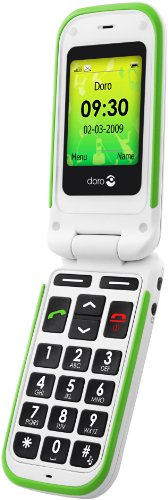 Doro PhoneEasy 410gsm White, Compatible with Hearing Aids