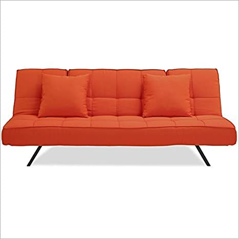 Serta Dream Convertibles Copa Sofa in Tangerine
