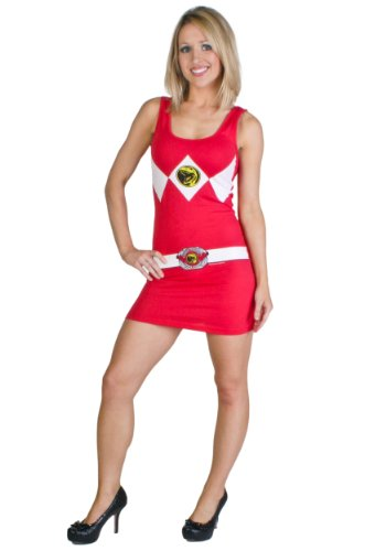 Power Rangers Costume Tank Dress Red (Large)