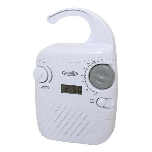 Spectra Merchandising Jen-Jwm-130 Jensen Am/Fm Shower Radio With Clock