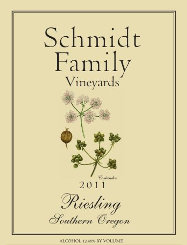2011 Schmidt Family Vineyards Riesling 750 Ml