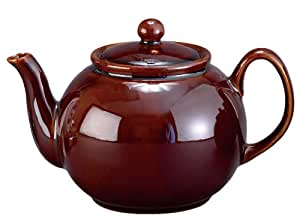 HIC Brands that Cook 32-Ounce Capacity English Style Teapot, Rockingham Brown