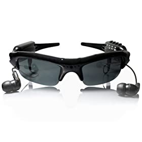 New Man & Woman Black Sunglasses with Mp3, Video-cam 4G memory