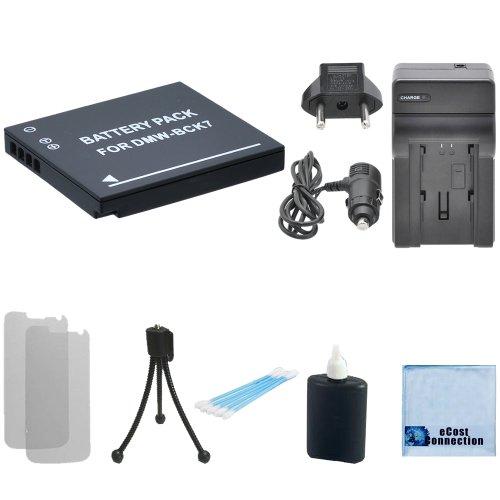 DMW-BCK7 Battery f/ Panasonic Lumix DMC-SZ02, DMC-SZ1, DMC-SZ5, DMC-SZ7, DMC-TS20, DMC-TS25, DMW-BCK7PP, DMW-BCK7E, NCA-YN101G Camera + Car/Home Charger + Complete Starter Kit