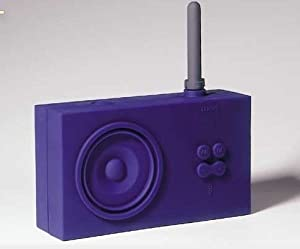 Lexon Tykho Rubber Radio Blue