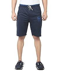 Maniac Striped Men's Dark Blue Basic Shorts