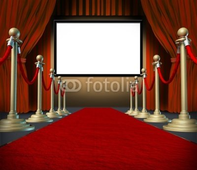 "Wallmonkeys Peel and Stick Wall Decals - Cinema Stage Blank Curtains Red Carpet Display - 18""W x 16""H Removable Graphic"