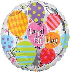 "Anagram International Birthday Foil Balloon, 18"", Multicolor"