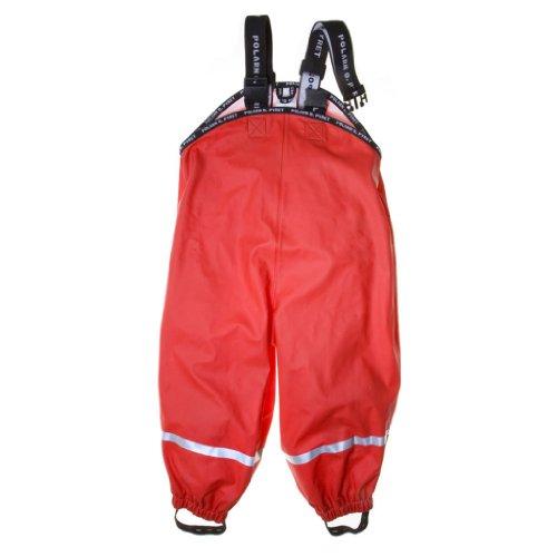 Polarn O. Pyret Little Boy Best Basic Rain Pants - 2-4 Yrs/Poppy front-956079