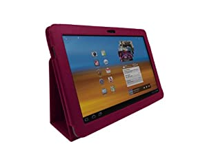 Stand & Type PU Cuir Folio Housse étui pour Apple iPad 2, 3 & 4 - Rose