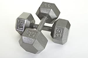 Buy USA Sports Hex Style Dumbbell (Gray Baked Polyester Finish) - Each by USA Sports Inc.
