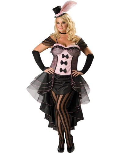 Burlesque Babe Plus Size Saloon Costume