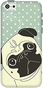 The Racoon Lean Pug Life hard plastic printed back case / cover for Apple Iphone 5c