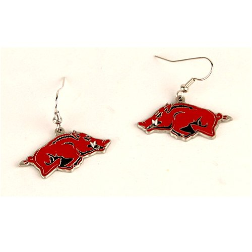 Arkansas Razorbacks Dangle Earrings at Amazon.com