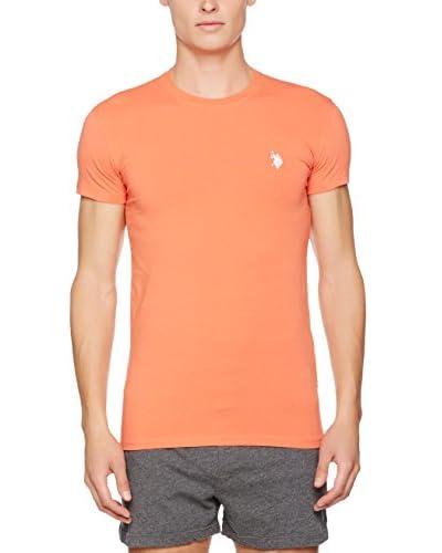 US POLO ASSN Camiseta Manga Corta Naranja