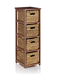 Water Hyacinth 4 Tier Storage Unit